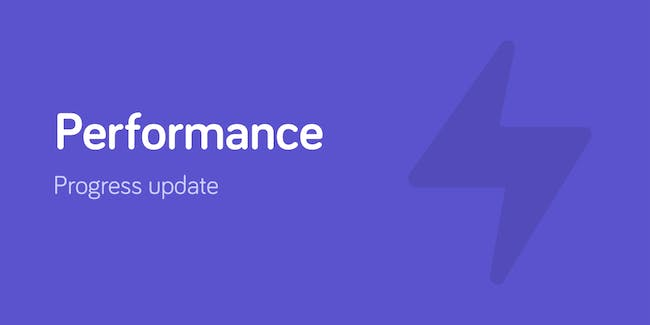 Performance progress update.