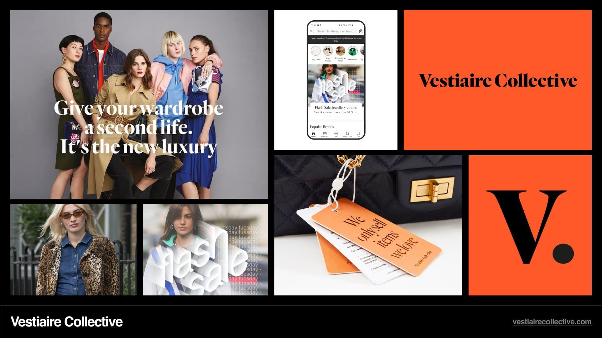 Vestiaire Collective Branding.