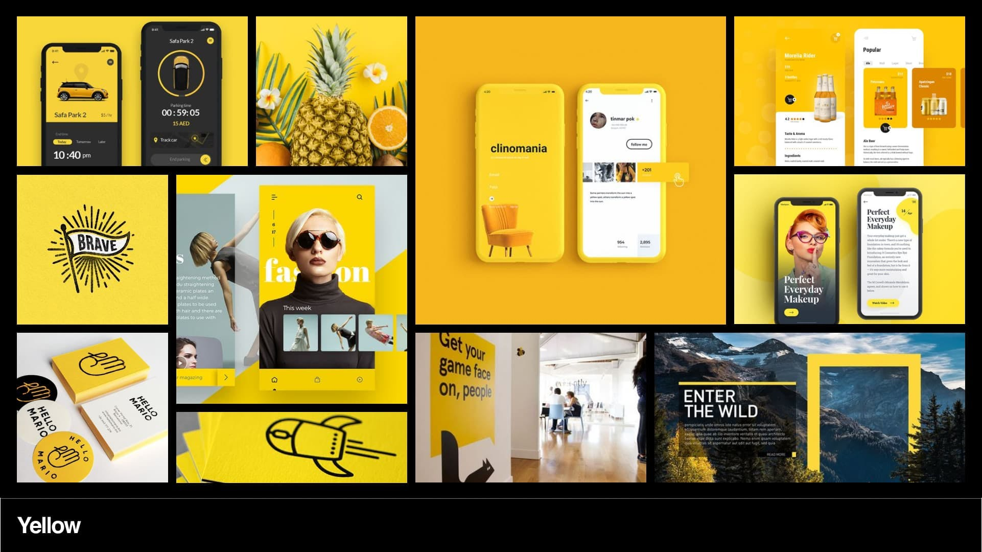 Yellow mood board 2
