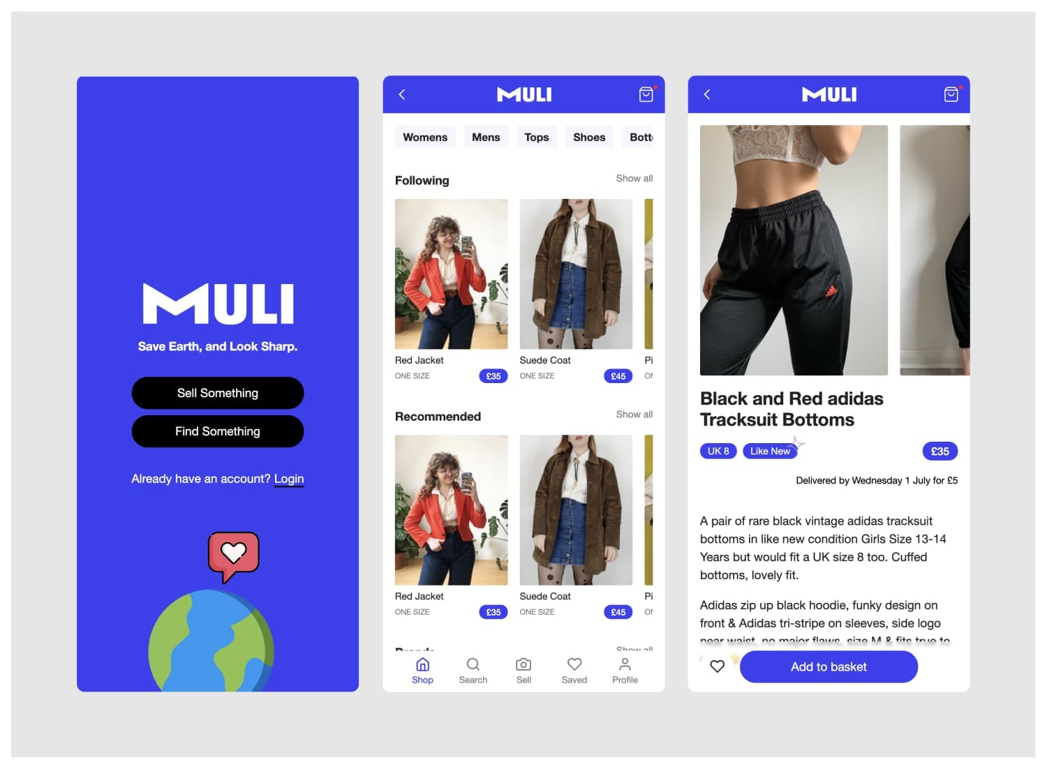 Muli UI screens
