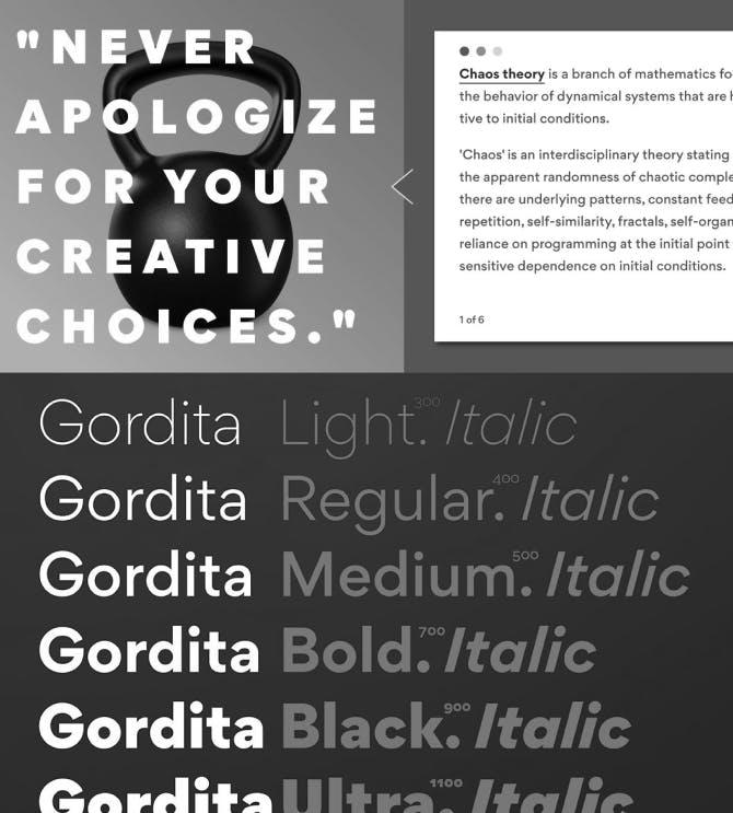 Gordita Typography Samples