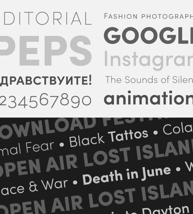 Sofia Pro Typography Samples