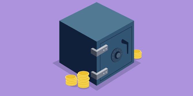 Illustration of a safe I recreated using Figma.