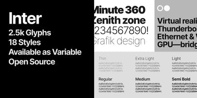 Inter sample typeface.