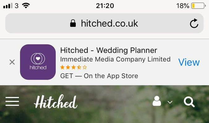 hitched app banner